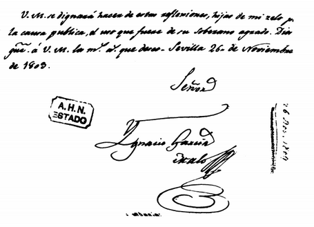 Escritura y firma