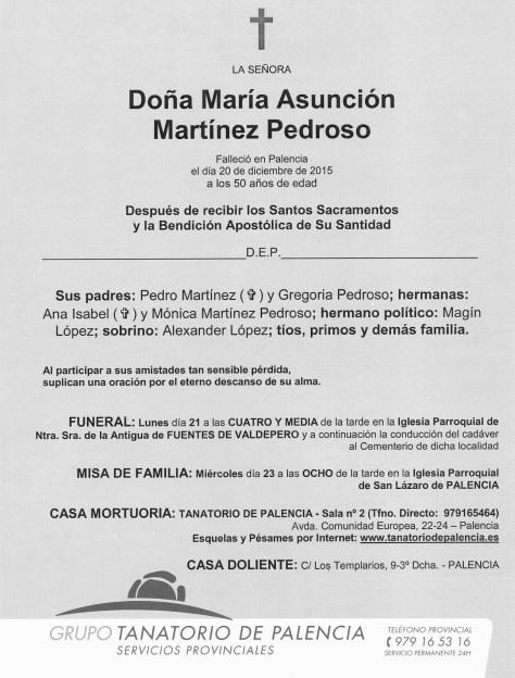 MARIA ASUNCION MARTINEZ PEDROSO