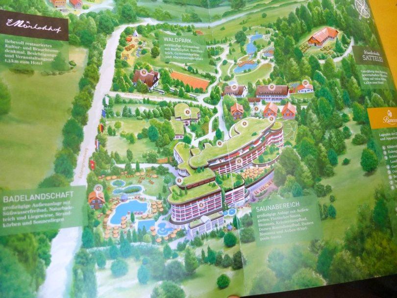 Hotel Bareiss Schwarzwald - plan du domaine