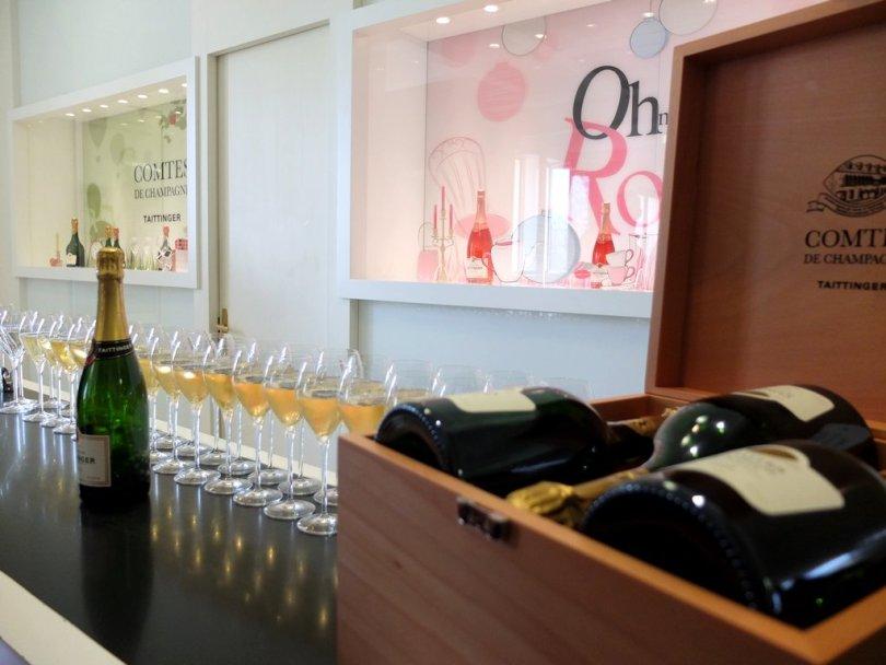 Champagne Taittinger - zone de dégustation