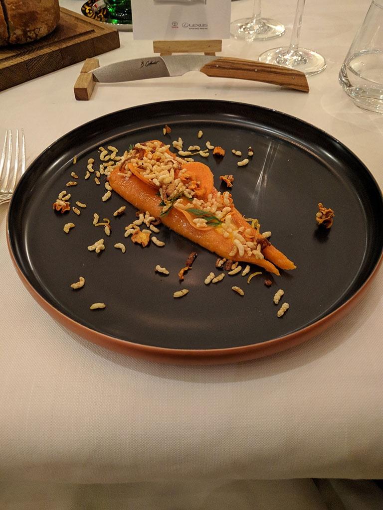 chateau de berne - restaurant de Benjamin - carotte