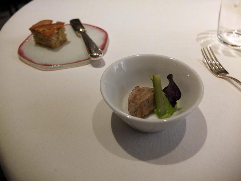 Restaurant Koehler auberge du cheval blanc à Westhalten - amuse bouche