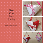 Paper Plate Heart Baskets