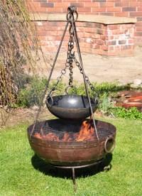 Kadai Fire Bowl Complete Cooking Set Cast Iron For Gardens