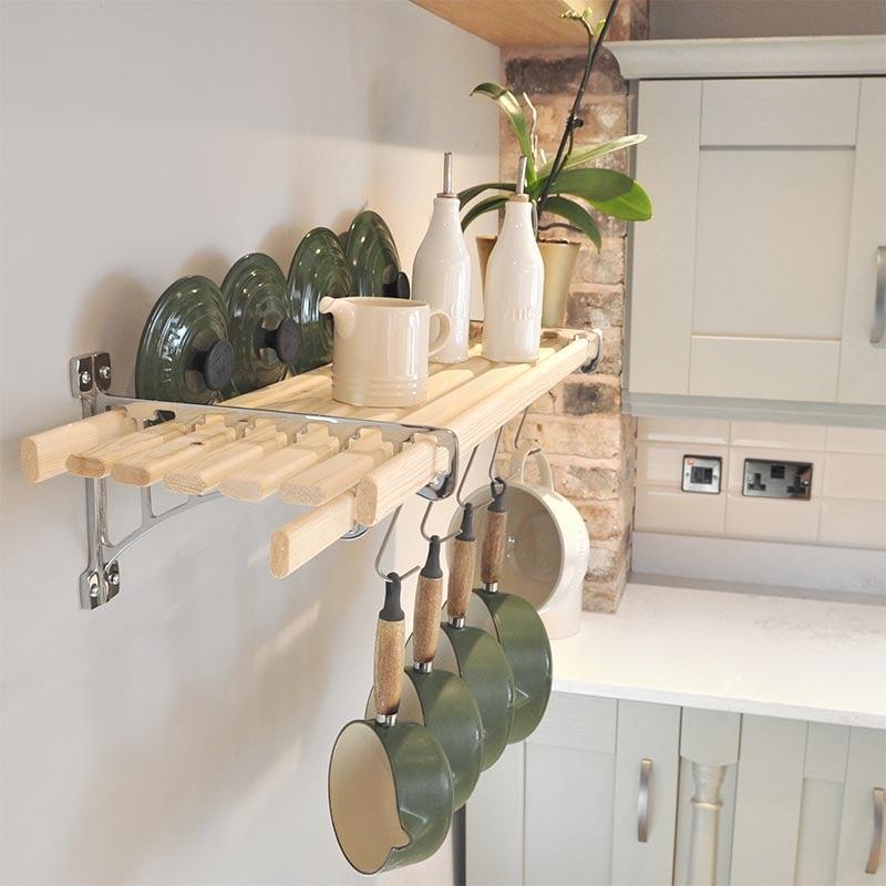 kitchen pot racks hardware on cabinets chrome 8 lath shelf rack iron pan