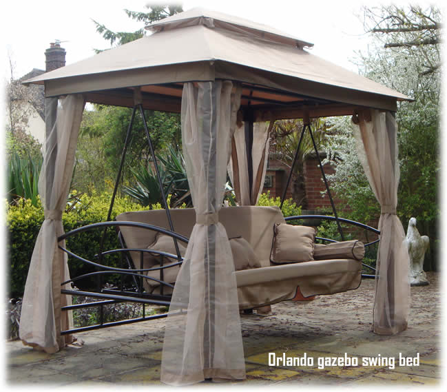 swing chair garden uk baby high cover replacement orlando luxor style luxury seat bench cast iron chimineas