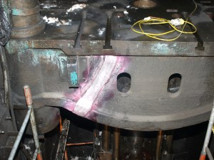 Cast Iron Welding Services Repair 2700 Tonne Press