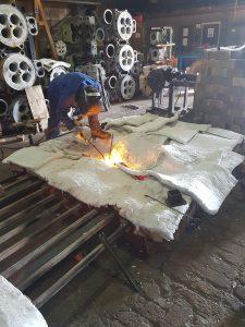 cast iron welding services welder repairing cast iron gates from national trust site