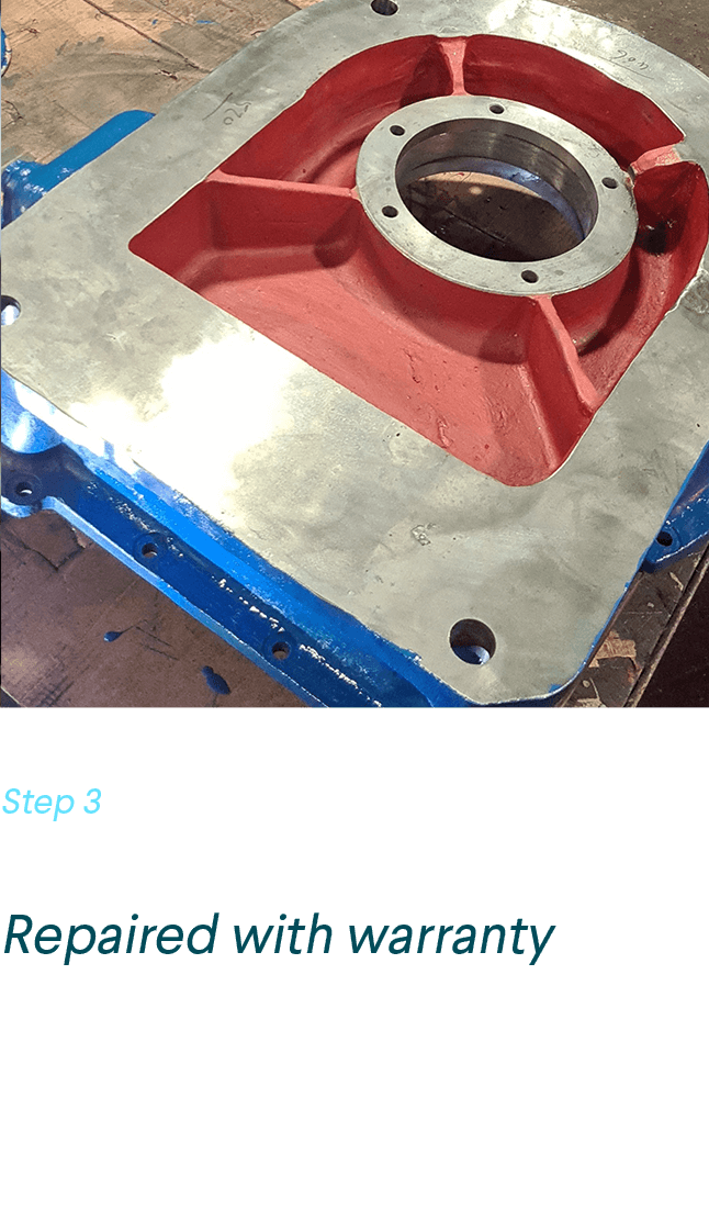 Fully welded and restored manipulator casing via the gas fusion process with a full warranty