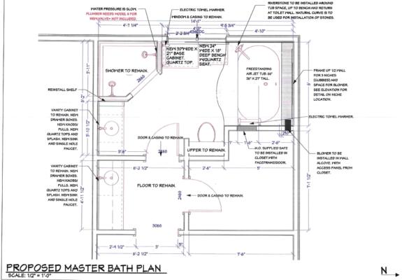 Project 2025-3 After Master Bathroom Remodel Floorplan