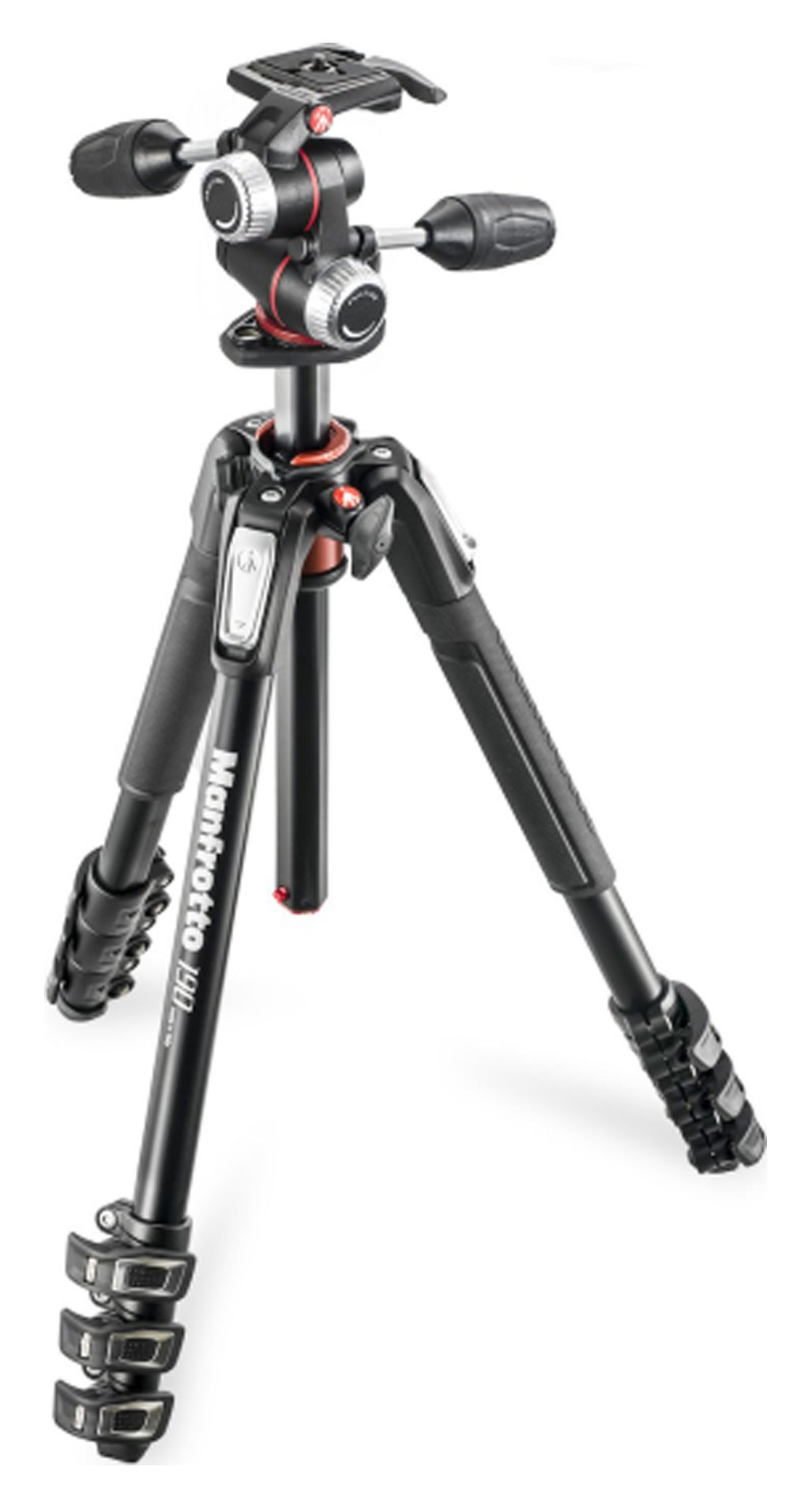 Manfrotto 190 Aluminum 4-Section Tripod with MHXPRO 3-Way