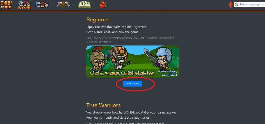 claim free chibi fighter