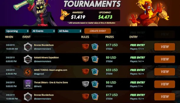 steem monsters tournaments