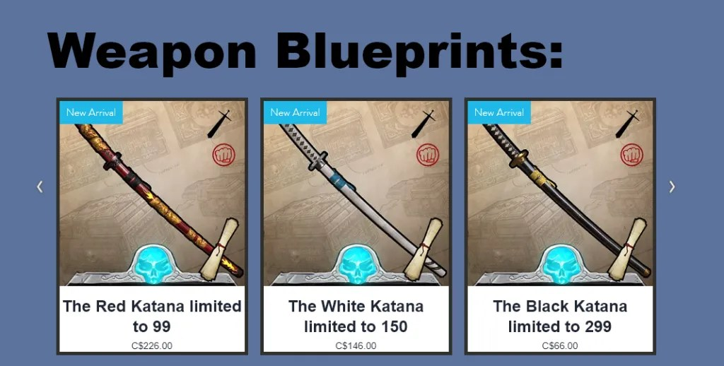 weapon blueprints