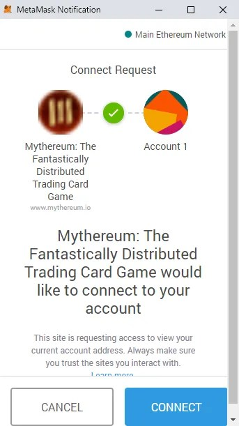 mythereum connect