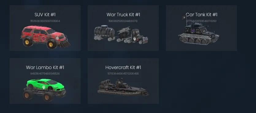 war riders vehicles