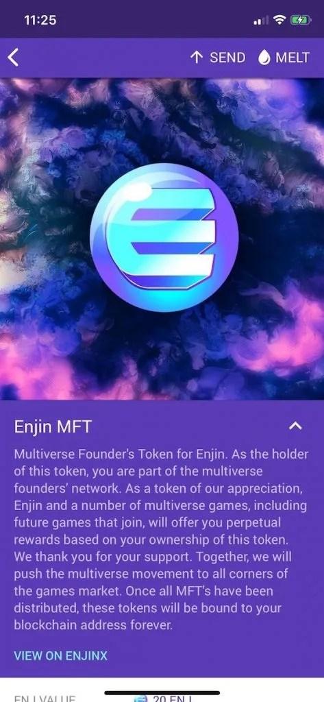 enjin mft multiverse founder's token
