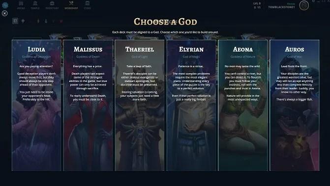 choose a god