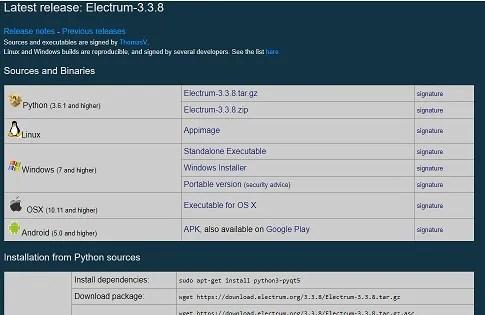 electrum release notes