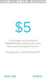 $5 in btc