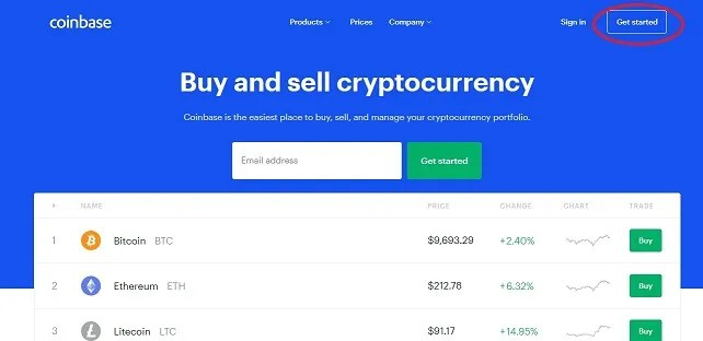 get started on coinbase