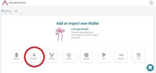 arkane wallet ethereum