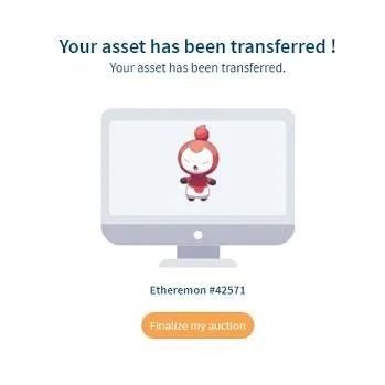 asset transferred