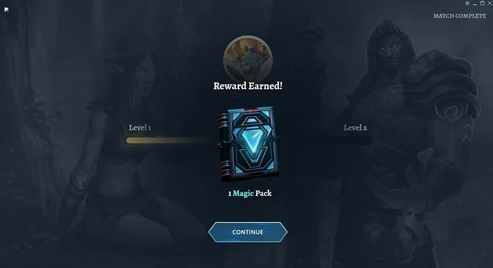 reward earned