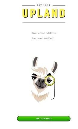 upland email verification