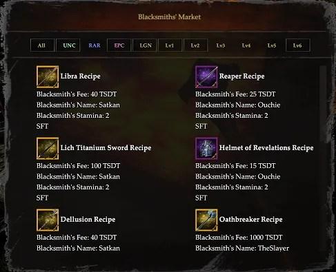 blacksmith's market