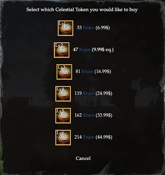 celestial tokens