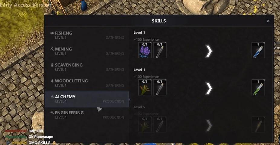 lost relics skills