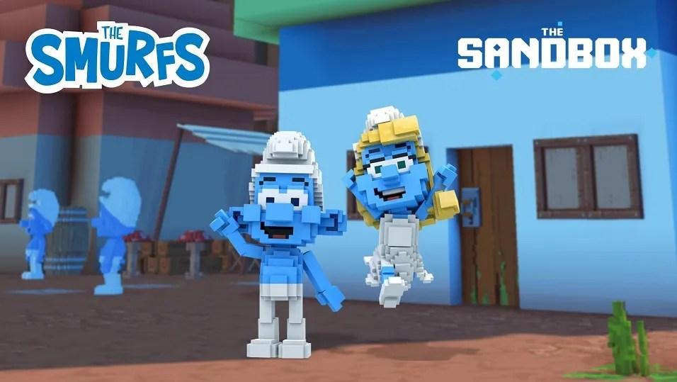 The Smurfs on The Sandbox