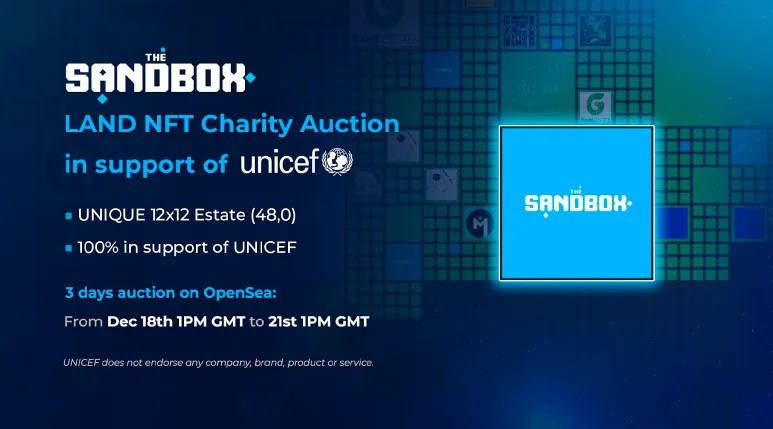 sandbox unicef auction