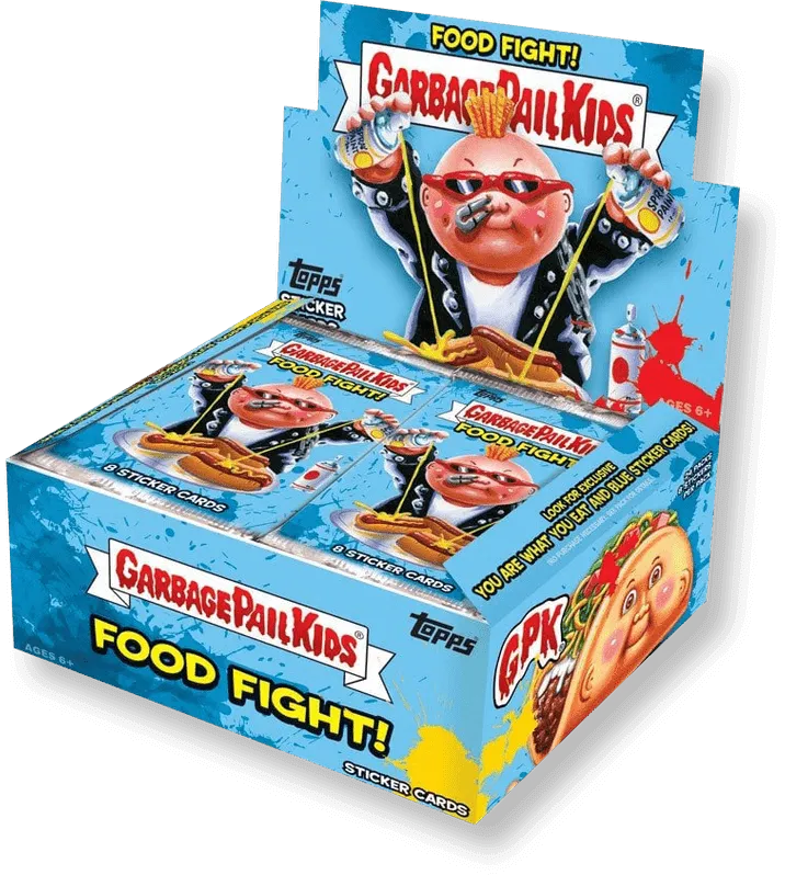 wax garbage pail kids food fight physical cards