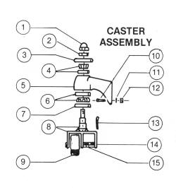 Castle Equipment Co Wheels and Casters for Weaver