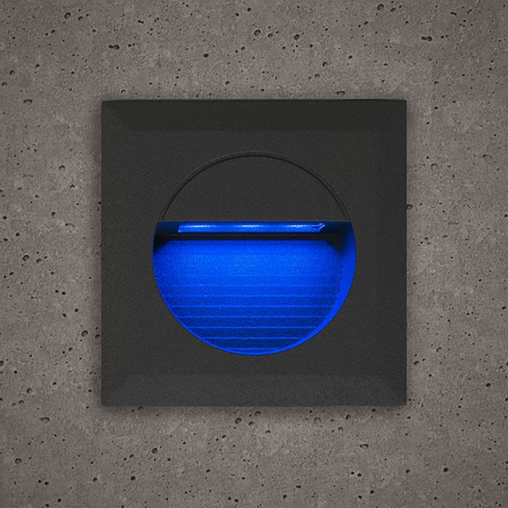 medium resolution of 10404 astro outdoor guide light in slate grey finish with blue led light