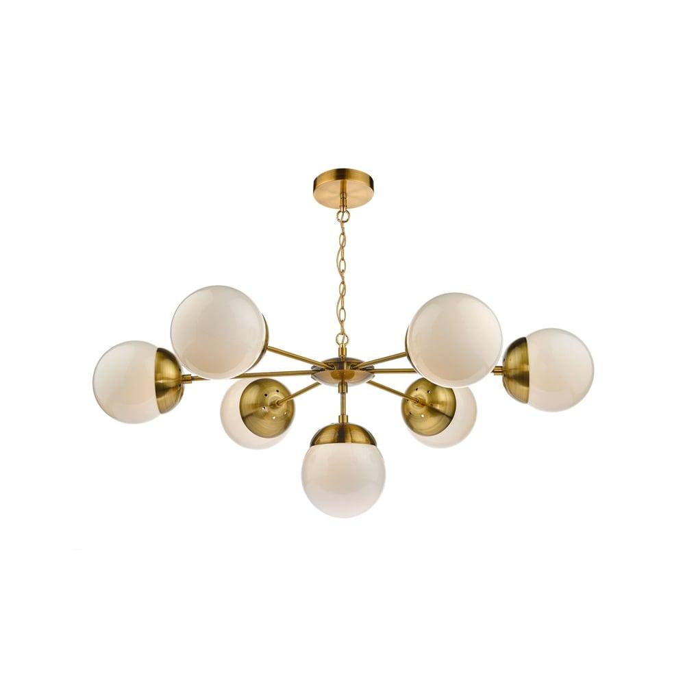 Dar Lighting Bombazine 7 Light Ceiling Pendant In Natural