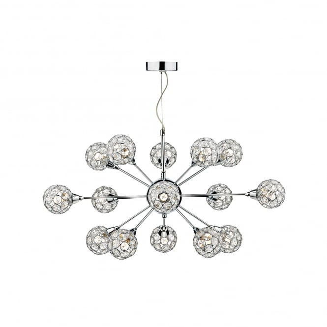 Dar Lighting Toga 15 Light Ceiling Pendant In Polished