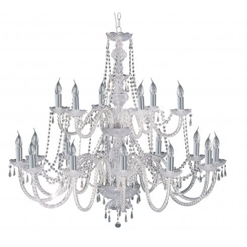 Searchlight Lighting Hale 18 Light Crystal Chandelier in