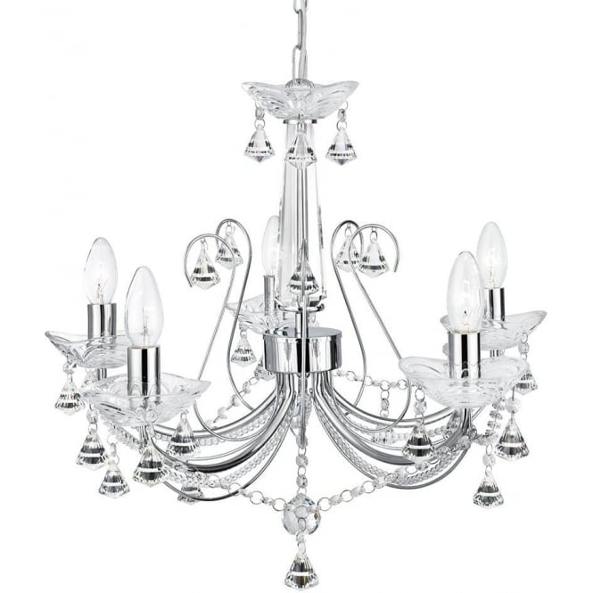 Searchlight Lighting Lafayette 5 Light Ceiling Chandelier