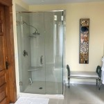 Check out the Spacious Bathroom of the Walnut Suite at Castle La Crosse B&B