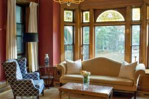 There's plenty of light in the Parlor for games, reading, or enjoying coffee during your stay at Castle La Crosse B&B.