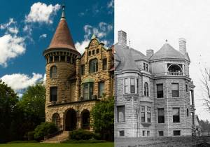 Castle La Crosse Bed and Breakfast - Then and Now. I wondered whether items were still in the attic from that time! But nope!