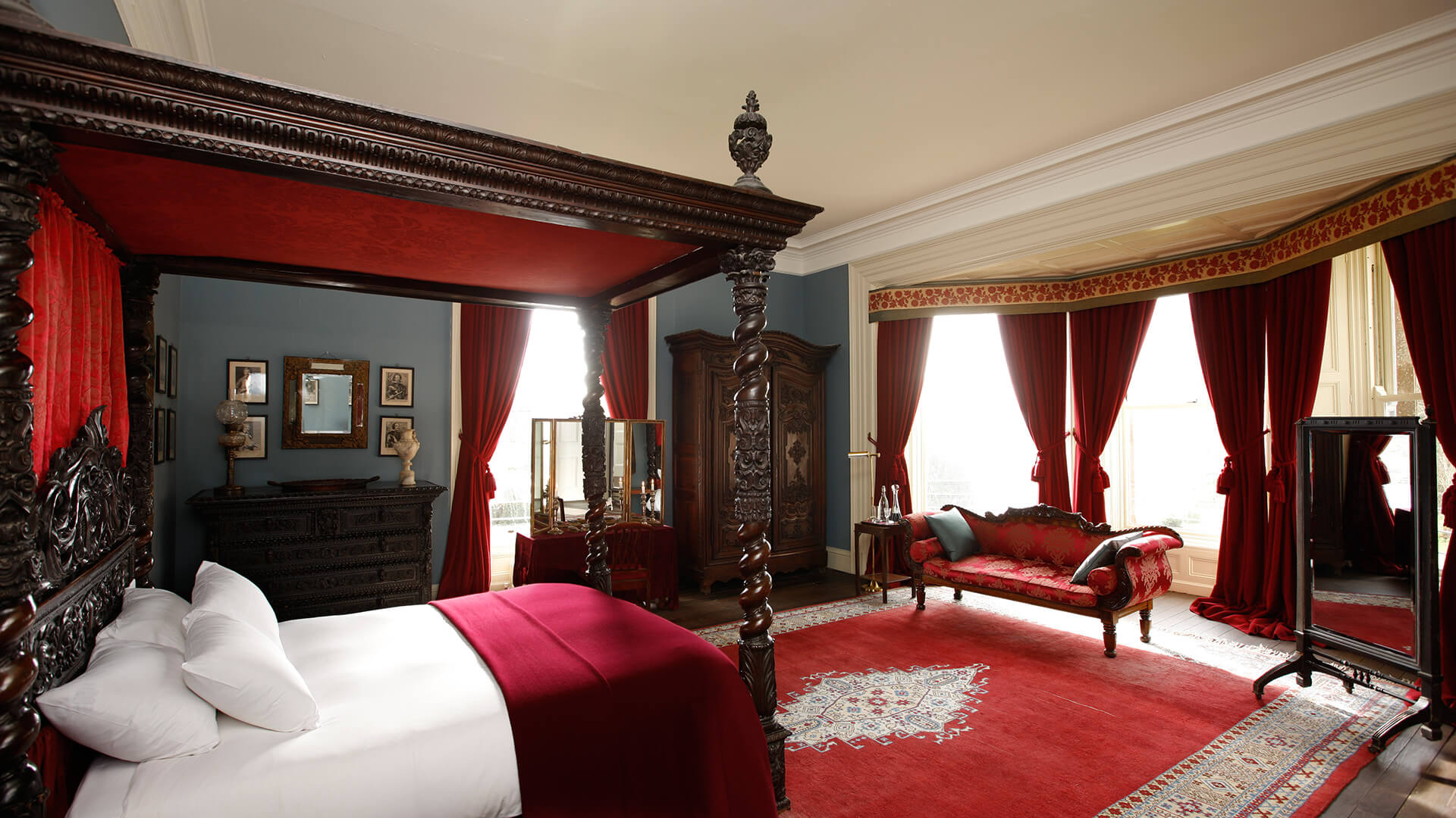The Red Room  Haunted Castles In Ireland To Stay  Castle Leslie Estate