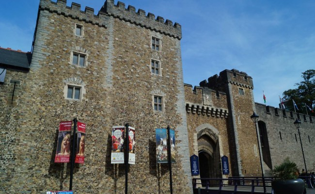 Cardiff Castle And Cardiff Town Wall South Wales