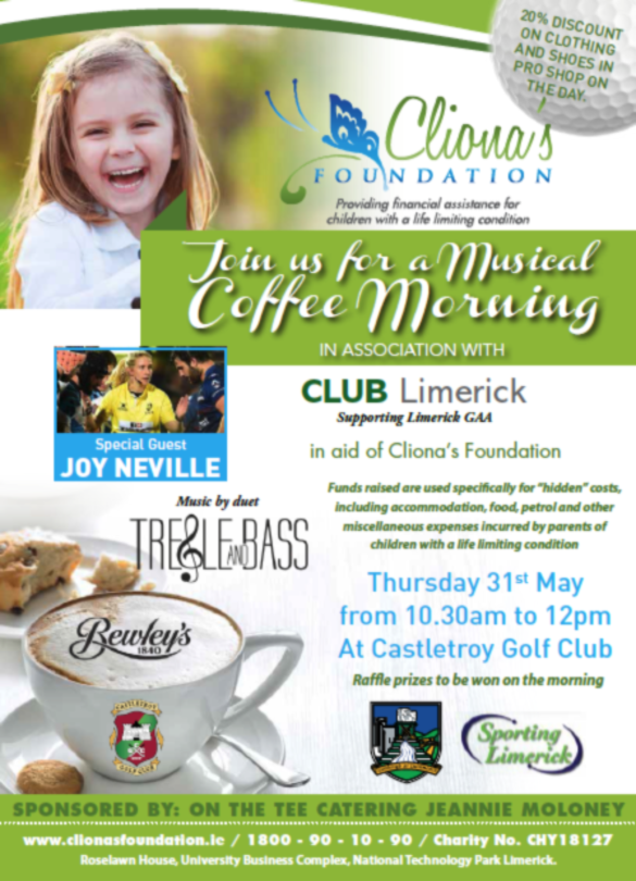 Coffee morning for Cliona's Foundation