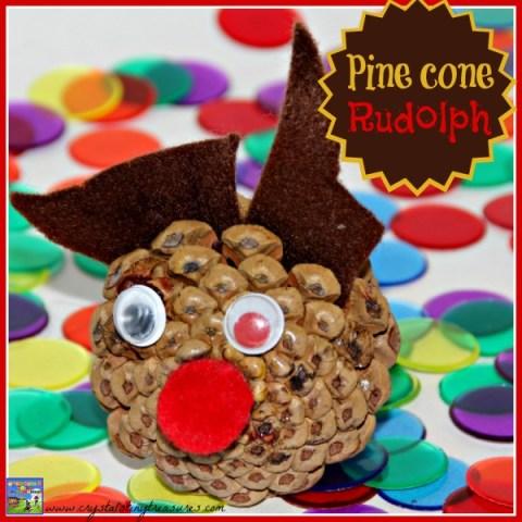 Pine Cone Kids Christmas Craft