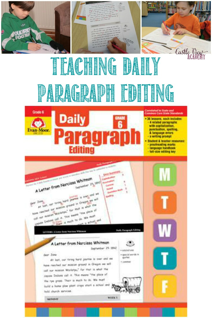 medium resolution of Teaching Daily Paragraph Editing for Grade 6 By Evan-Moor   Castle View  Academy