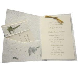 Organic Wedding Invitations With Handwritten Fonts Simple Pleasures
